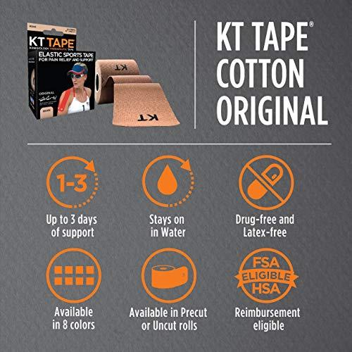 "KT Tape Kt Tape Classic, Precut 10"" Strip(20 Each), Beige"
