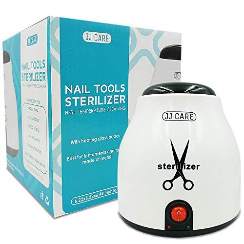 Nail Tool Sterilizer, Salon Tool Sterilizer, Tweezer Sanitizer Machine, Lash Tool Sterilizer, High Heat Disinfection with Sterilizer Beads for Manicure Tools & Nail Tools
