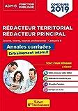 Concours Rédacteur territorial et rédacteur principal - Concours externe, interne et 3e voie - Concours 2019 (Admis Fonction Publique) - Format Kindle - 9782311207309 - 13,99 €