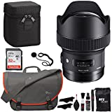 Sigma 14mm f/1.8 Art DG HSM Lens (for Nikon Cameras), Sandisk Ultra SDHC 32GB Memory Card, Lowepro Bag and Accessory Bundle