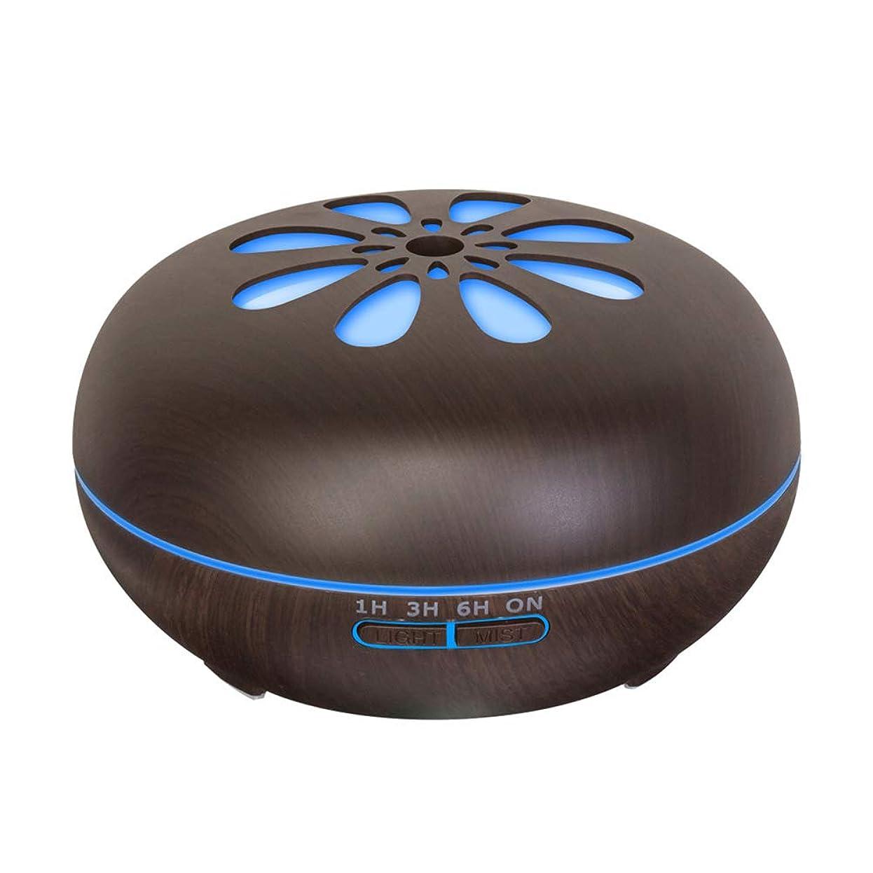 に負ける新年流550 Ml 木目 涼しい霧 加湿器,リモコン 7 色 超音波式 加湿機 時間 香り 精油 ディフューザー ホーム オフィス リビング ルーム Yoga-h