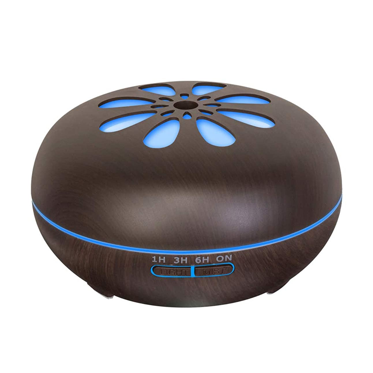 うめき虫を数えるレンド550 Ml 木目 涼しい霧 加湿器,リモコン 7 色 超音波式 加湿機 時間 香り 精油 ディフューザー ホーム オフィス リビング ルーム Yoga-h