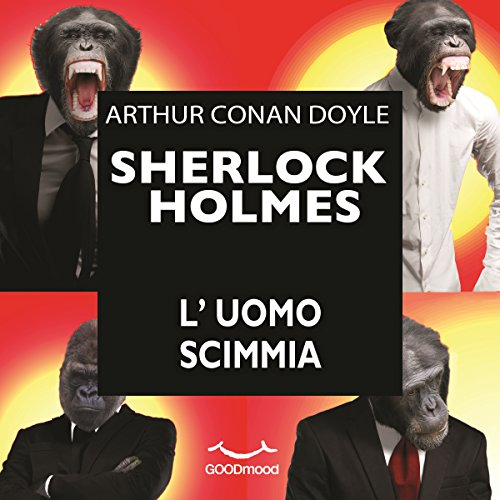 L'uomo scimmia audiobook cover art
