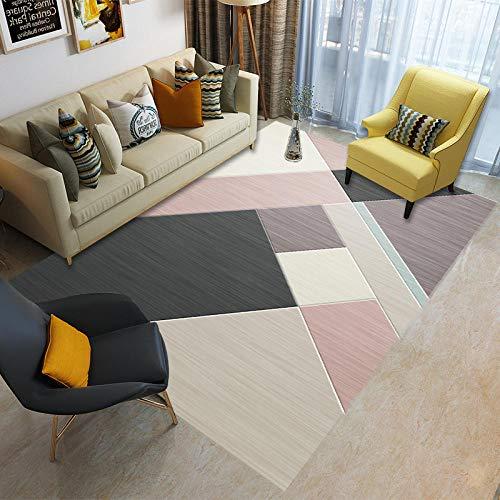 HXJHWB Alfombra Salón Varias Dimensiones - Sofá, Mesa de Centro, Alfombra de impresión 3D geométrica Simple, Antideslizante Interior Moderno de Pelo Corto-Los 50CMx80CM