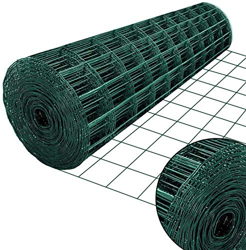 NEXTRADEITALIA CF da 1PZ Rete per recinzione PLASTIFICATA | Altezza H 175 cm | Maglia elettrosaldata 50x50 mm | Filo Ø 2,3 mm | Lughezza Rotolo da 25 mt per recinzione Verde