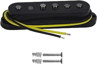 FLEOR Single Coil Pickup Alnico 5 Strat Pickups Bridge Guitar Pickups Staggered for Strat Squier Electric Guitar, Black