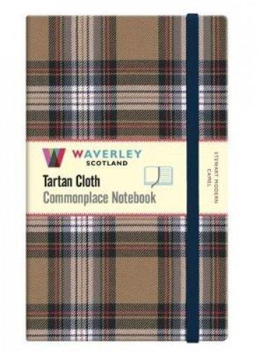 Stewart Modern Camel: Large: Waverley Genuine Tartan Cloth Commonplace Notebook (21cm x 13cm)