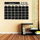 Sticker Decal Kalender 2016 Wandaufkleber – Kreidetafel Aufkleber Time Organizer (braun, 22 B x 16 H)