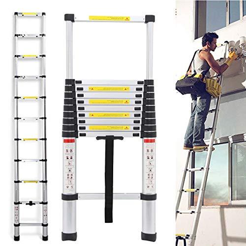 Telescopic Ladder 3.2M 10.5 Feet, Extension Ladder Aluminum Light Weight...