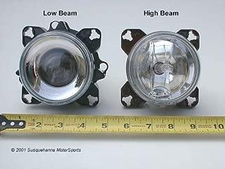 Hella 90mm Low Beam Headlight, H9 Bulb, Connectors, Adjusters, Each