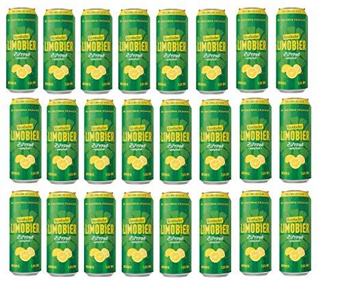 24 Dosen Krombacher Limobier Zitrone naturtrüb mit 1,5% Vol. EINWEG Pfand Biermix 70% Limo und 30% Bier