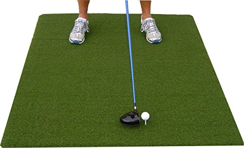 Premium 4'X5' Luxury Tee Golf Hitting Mat- Holds a Wooden tee