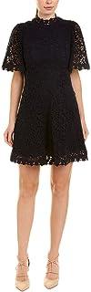 Rebecca Taylor Navy Floral Lace Short Sleeve Dress