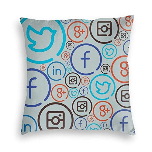 IUBBKI Social Media Crazy Velvet Pillowcase 45cm-45cm