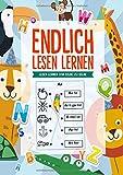 Endlich Lesen Lernen: Lesen lernen von Silbe zu Silbe - Das Kinderbuch um Lesen zu üben mit tollen Ausmalbildern