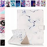 E-Mandala Universal 8 Zoll Hülle Etui Flip Hülle Leder Wallet Cover Tablet PC Tasche mit Kartenfach Klapphülle Ledertasche Lederhülle - Weiß