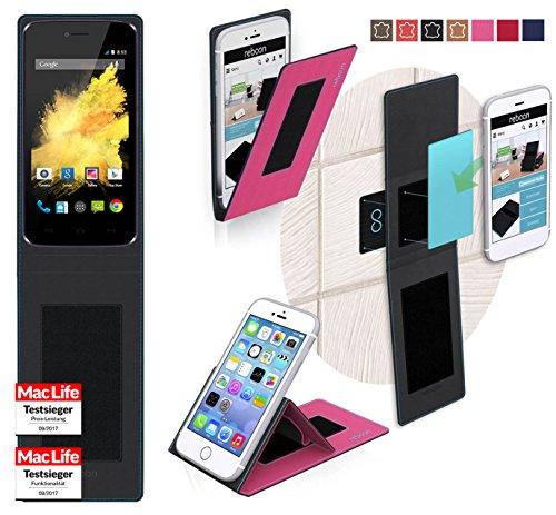 Hülle für Wiko Birdy 4G Tasche Cover Hülle Bumper | Pink | Testsieger