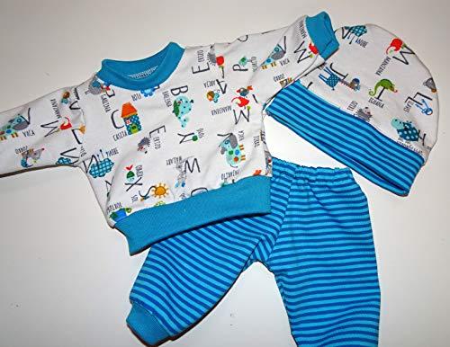 maderegger Pyjama für Puppe Größe 35-40 cm mit Hose, Shirt und Mütze