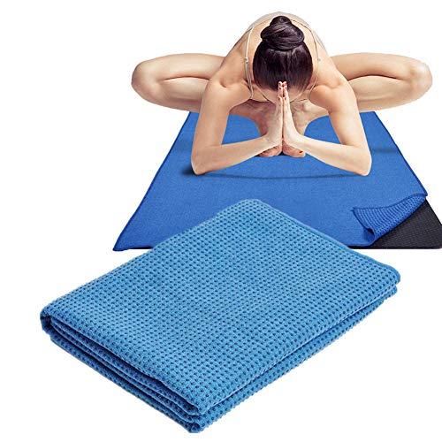 KUENG Toalla Yoga Antideslizante Mantas De Yoga Ejercicio Mat Toalla Yoga Toallas Fitness Mat Toalla Toalla Antideslizante para Ejercicio Blue,-