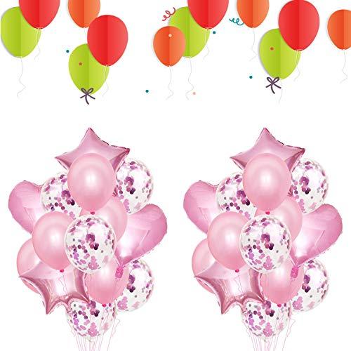 Globos Cumpleaños Decoracione,Globos Aluminio,Globo Confeti, Globo Corazón,Para Mujer Hombre Niño Fiesta De Niña Decoración De Cumpleaños