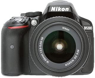 Nikon D5300 Digital SLR Camera with 18-55 VR Lens and AF-S DX NIKKOR 35 mm f/1.8 G Twin Lens 4GB Card, Camera Bag (Black)