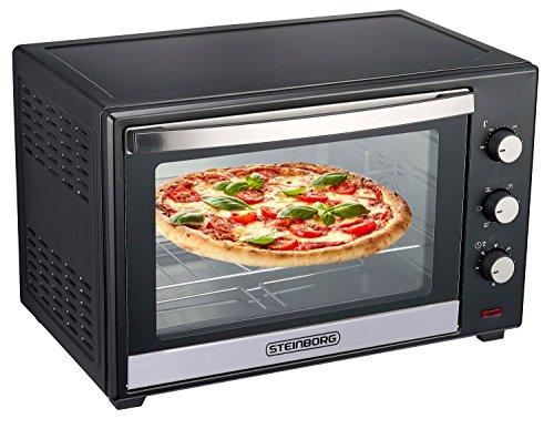 Minibackofen 60 Liter | Umluft Ofen | Pizzaofen | Mini Backofen | Freistehender Backofen | Mini-Backofen | Backofen mit Umluft | 2.000 Watt | Umluft | Rotisserie | 90 min Timer | Zubehör (60 Liter)