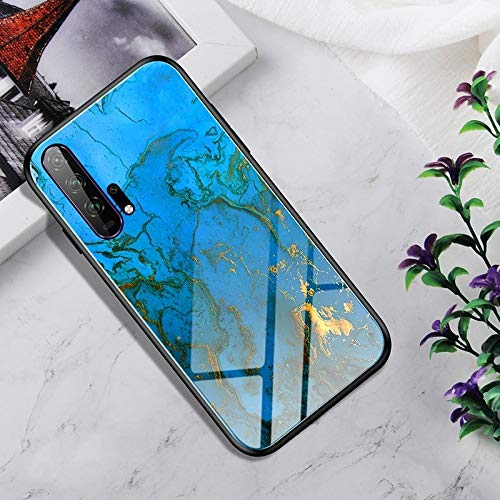 Dmtrab Phone Case para Huawei Honor 20 Pro Caso, Vidrio Templado a Prueba de Golpes + Funda Protectora TPU (Nebulosa Colorida) Tapa de Paquetes (Color : Rankin)