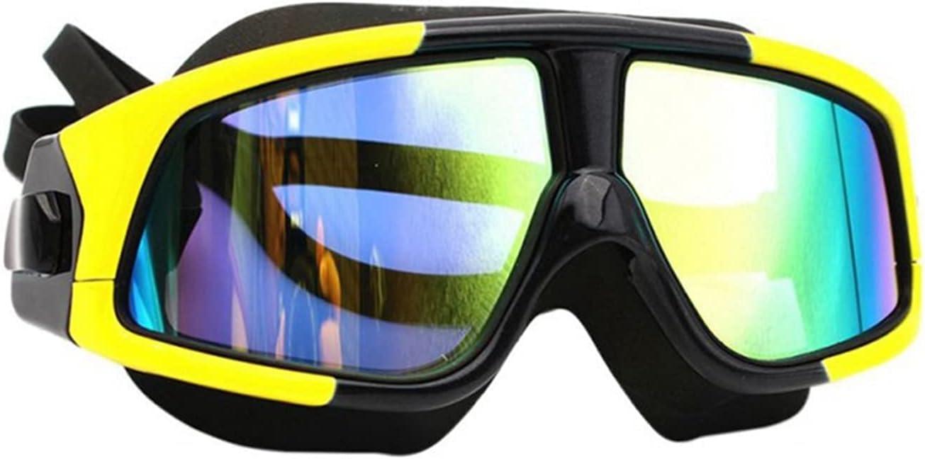 JYDZSW Gafas de natación Hombres Mujeres Natación Gafas Cómodo Gafas de natación Impermeable Anti-Niebla UV Máscara de protección de la protección C