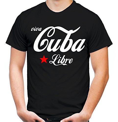 Viva Cuba Libre Männer und Herren T-Shirt | Spruch Che Guevara Geschenk (XXXXL, Schwarz)