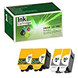 Limeink 4 Pack Remanufactured 30XL Ink Cartridges (2 Black, 2 Color) Use Replacement for ESP: 3.2, C110, C310, C315 Office 2150, Office 2170, Hero 3.1, Hero 5.1 Series Printers 1550532 1341080