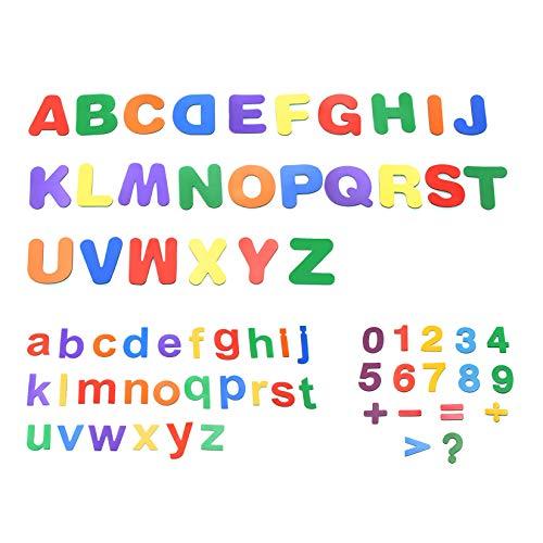 Starke magnetische Buchstaben und Zahlen für Kinder, ungiftiges Lern-Alphabet für Klassenzimmer, 68 Teile – PAWHITS