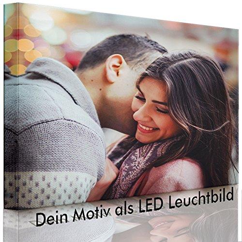 lightbox-multicolor.com LED Bild – Ihr eigenes Motiv – Foto als Leuchtbild – 100 x 70 cm – Fully Lighted – Made IN Germany