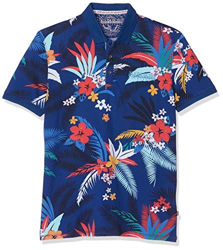 Napapijri Herren Ellary Poloshirt, Mehrfarbig (Fantasy F21), Small (Herstellergröße: S)