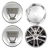 4 stücke Auto Rad Rim Center Hub Cap Abzeichen Aluminium Trim Aufkleber für Dacia Lodgy Sando MK2 Duster Stepway 2017, Fahrzeug Auto...