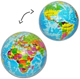 Knautschball Welt / Erde / Globus - für Kinder und Erwachsene / Stressball - lustiger Ball 8 cm -...
