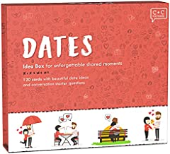 Couple Box » Dates « | 100+ Date Night Ideas and Conversation Starters | Romantic Anniversary or Valentines Gift for Him and Her, Unique Wedding Gift | Couples Game with 120 Date and Question Cards