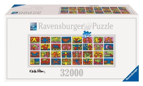 Ravensburger 17838 - Keith Haring: Double Retrospect - 32.000 Teile Puzzle (544x192cm) - größtes Puzzle der Welt