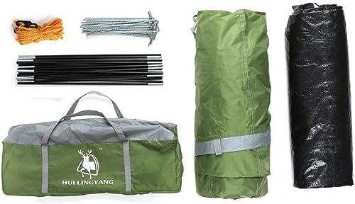 MDZH Tente 2 Couleurs Ultralight Camping Tente étanche 3-4 Personne Double Couche Tunnel Tente Coupe-Vent Cordes en Fibre De Verre Rod Set