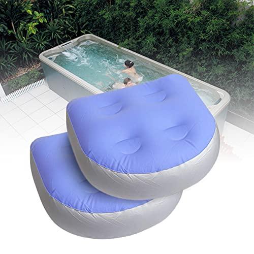 OrangeClub Whirlpool Massage Kissen, aufblasbares Badewanne Multifunktionaler Rutschfester Spa Sitzerhöhung mit Saugnapf Griff, ideal Sitzerhöhung für ältere Erwachsene, Kinder, Spa&Erholung(2 Pcs)