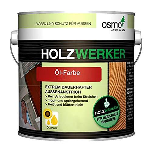 OSMO HOLZWERKER OEL-FARBE - 2.5 LTR (H-2308 NORDISCH ROT)