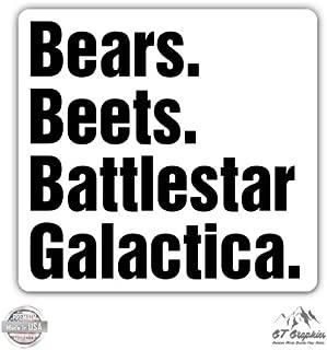 GT Graphics Bears Beets Battlestar Galactica The Office - Vinyl Sticker Waterproof Decal