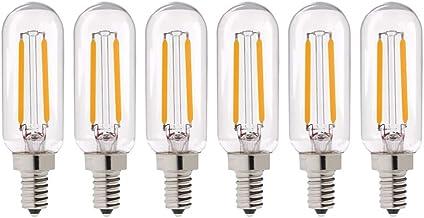 Mobestech 6 pcs Edison Filament Light Retro LED Tubular Bulbs Decorative Base Bulb for Kids Room Bedroom Living Room (2W, ...