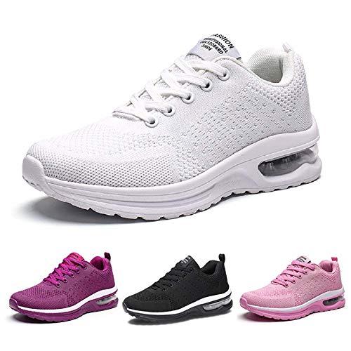 Kinghealth - Zapatillas de correr para mujer con malla transpirable y ligeras, para gimnasio y deportes, color, talla 38 EU