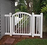 WamBam Traditional 4 by 4-Feet Premium Vinyl Yard and Pool Gatewith Powder Coated Stainless Steel Hardware