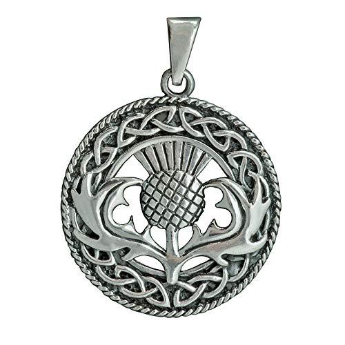 Hirschhorn Geweih keltisch Cernunnos Anhänger 6g 925 Sterling Silber BELDIAMO
