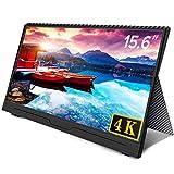Uperfect 4K 15.6インチ モバイルモニター 3840*2160@60hz/超薄/NTSC72%色域/IPSパネル モバイルディスプレイ USB Type-C/HDMI/Nintendo Switch/PS4 XBOXゲームモニタ  保護ケース付 [3年保証](UP-1509)
