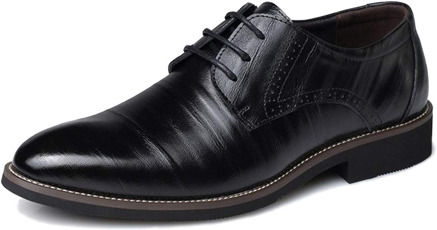 Jacky's Oxfords shoes Men's Genuine Leather Wingtip Carved Classic Dress Formal Business Casual Professional Flat Italian Style Plus Sizes Oxford bluee Black Brown Solid Colour shoes
