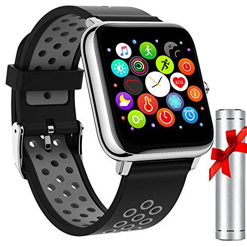 Smartwatch Orologio Fitness Impermeabile Uomo Donna Smart Watch Cardiofrequenzimetro da Monitoraggio Scientifico del Sonno Activity Tracker
