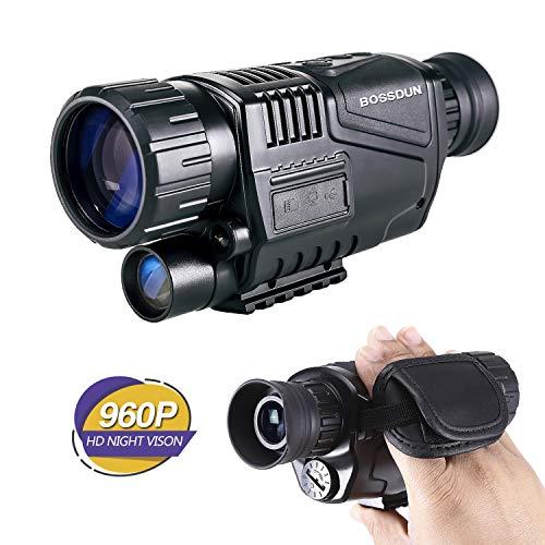 Monóculo de visión Nocturna, cámara infrarroja HD 8X40 con función de videoconferencia y Foto Premium TFT LCD de 1.5 Pulgadas para observación o observación Nocturna, Contiene Tarjetas de 32G