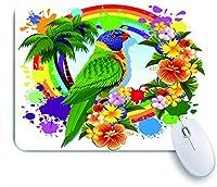 ECOMAOMI 可愛いマウスパッド ゴシキセイガイインコのオウム 滑り止めゴムバッキングマウスパッドノートブックコンピュータマウスマット